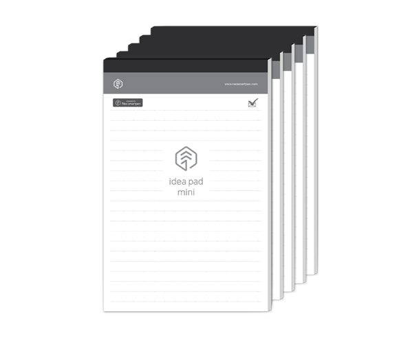 5 PACK - N idea pad mini, 100 ruled pages  (Price+VAT)