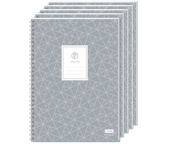 5 PACK  - N ring notebook, A5 sized, 152 ruled pages  (Price+VAT)