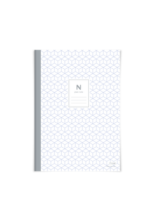 5 PACK - N plain, 72 blank pages