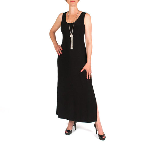 LONG TANK DRESS SIDE SLIT