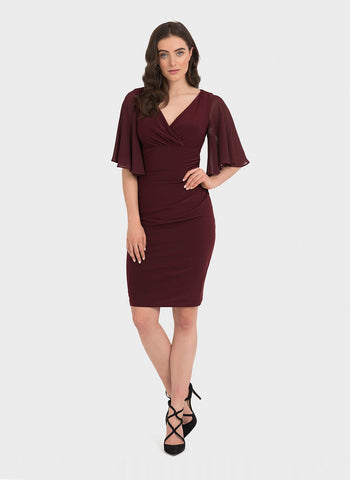 BLACKBERRY FLUTTER SLEEVE     SHAPED DRESS