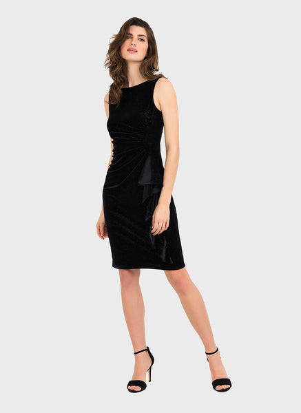 LBD SIDE RUFFLE SHEATH