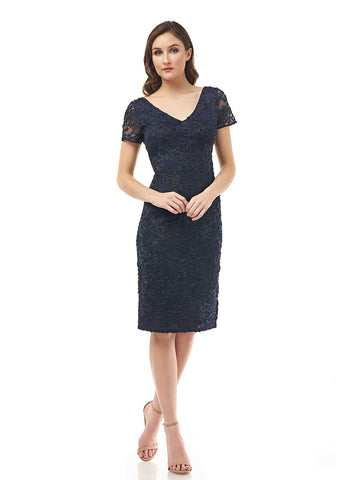 NAVY EMBELLISHED COCKTAIL     DRESS
