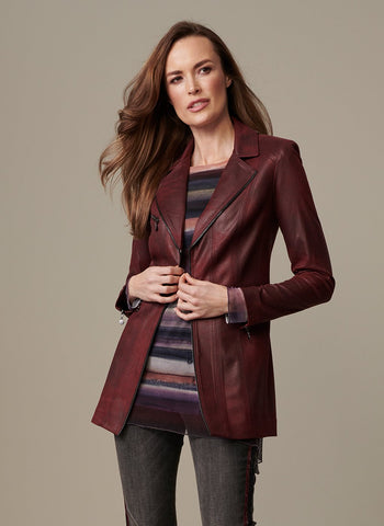 LONG BURGUNDY RIDING COAT