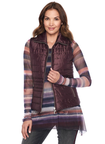LIGHT WEIGHT QUILTED VEST WITHZIP POCKETS