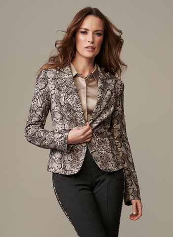 PYTHON PRINT 1 BUTTON JACKET