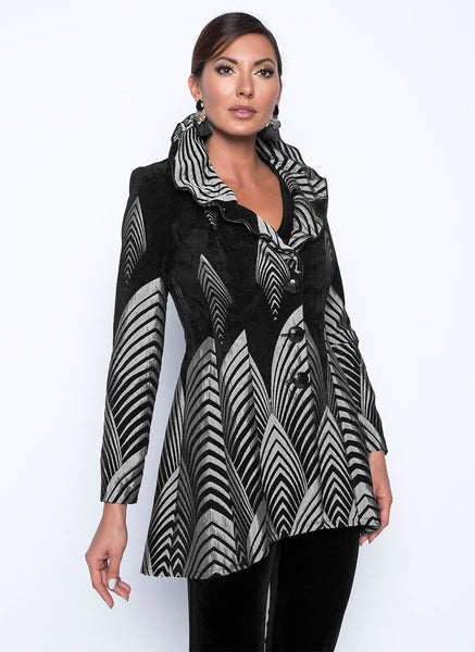 BLACK/SILVER DECO JACKET