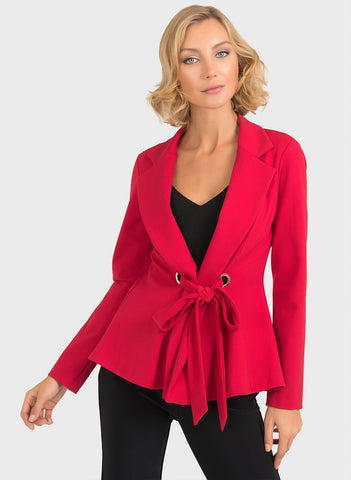 RED TIE FRONT JACKET