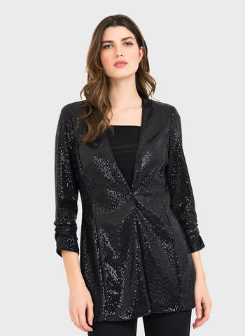 GLITTERY TRIM COCKTAIL JACKET