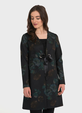 EMERALD FLORAL LONG JACKET