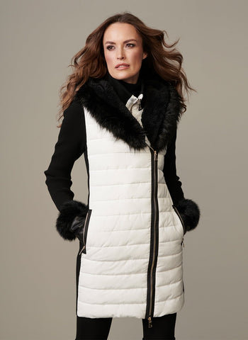 WHITE HOT ZIPPER JACKET W/ HOOD