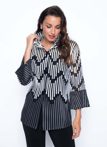 GEO STRIPE JACKET