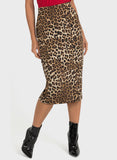 ANIMAL PRINTED PENCIL SKIRT