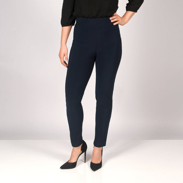 SEAMED PANT WITH SLIT BACK