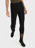 BLACK MESH DETAIL LEGGING