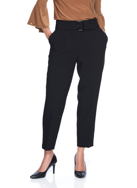 DOUBLE FACE ANKLE PANT WITH   BELT