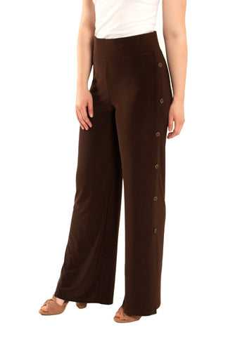 SIDE BUTTON PALAZZO PANT