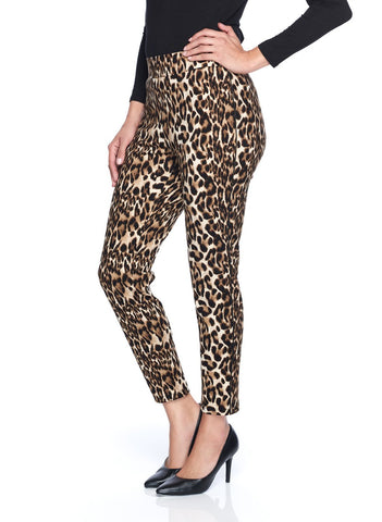 ANIMAL PRINTED PANT WITH PIPE