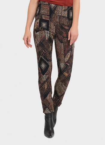 RUST PATCHWORK PANT