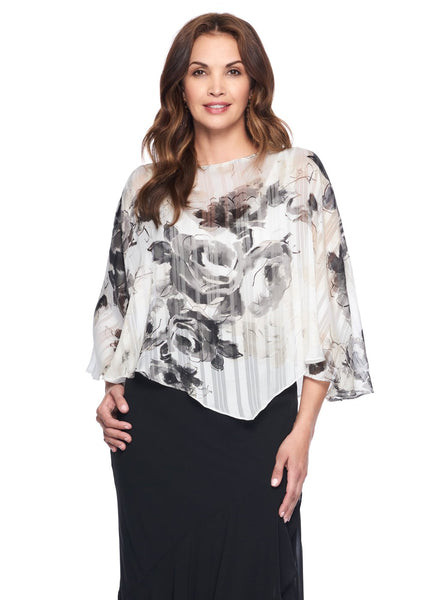 NEUTRAL ROSE PRINT BLOUSE