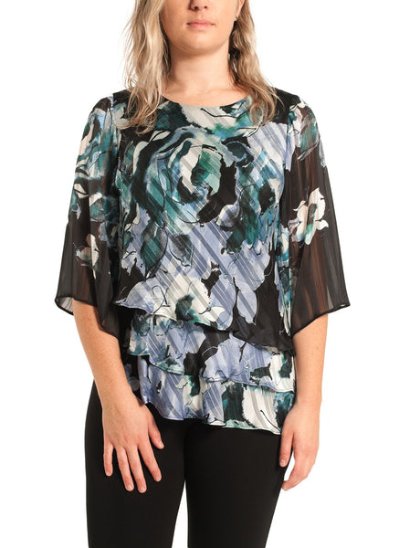ASSYMETRIC LAYERED HEM BLOUSE