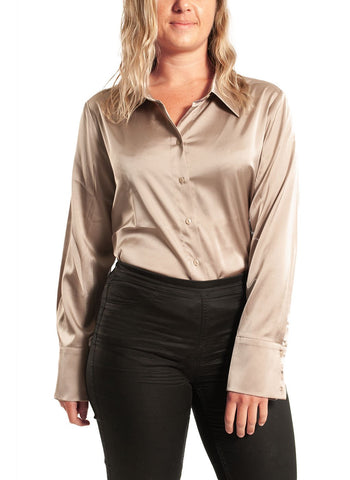 CHARMEUSE BLOUSE WITH COLLAR