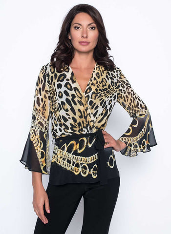 ANIMAL WRAP BLOUSE