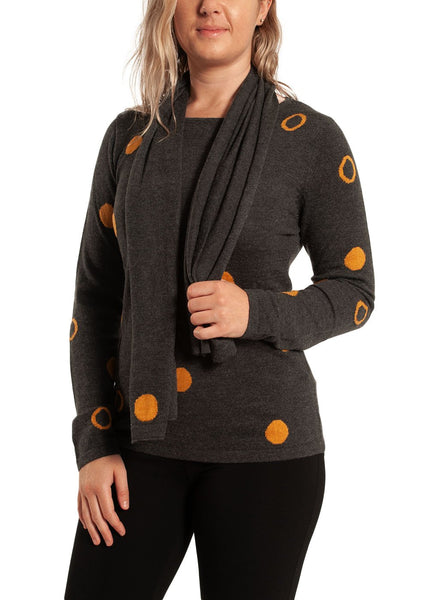 ASTRIX PRINTED SWEATER W/ SCARF