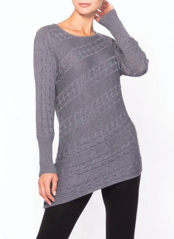 DIAGONAL CABLE TUNIC