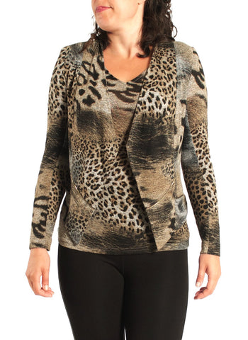 ANIMAL PRINTED CARDI