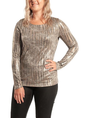 SHIMMER ANIMAL TOP