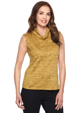 MUSTARD SLEEVELESS MOCK