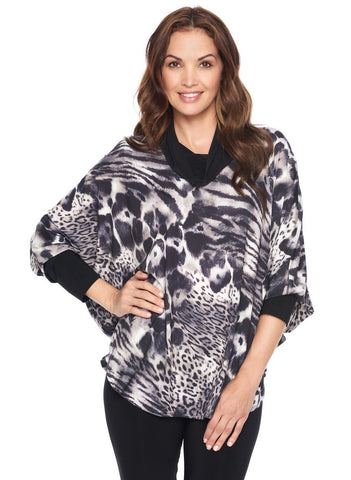 ANIMAL COWL NECK TUNIC
