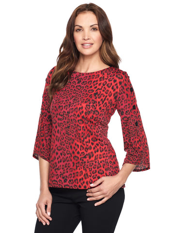ROUGE ANIMAL PRINT TOP