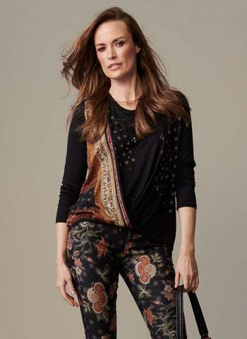 KNIT DRAPED FRONT TOP