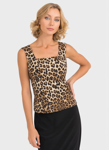 ANIMAL PRINT SQUARE NECK CAMI