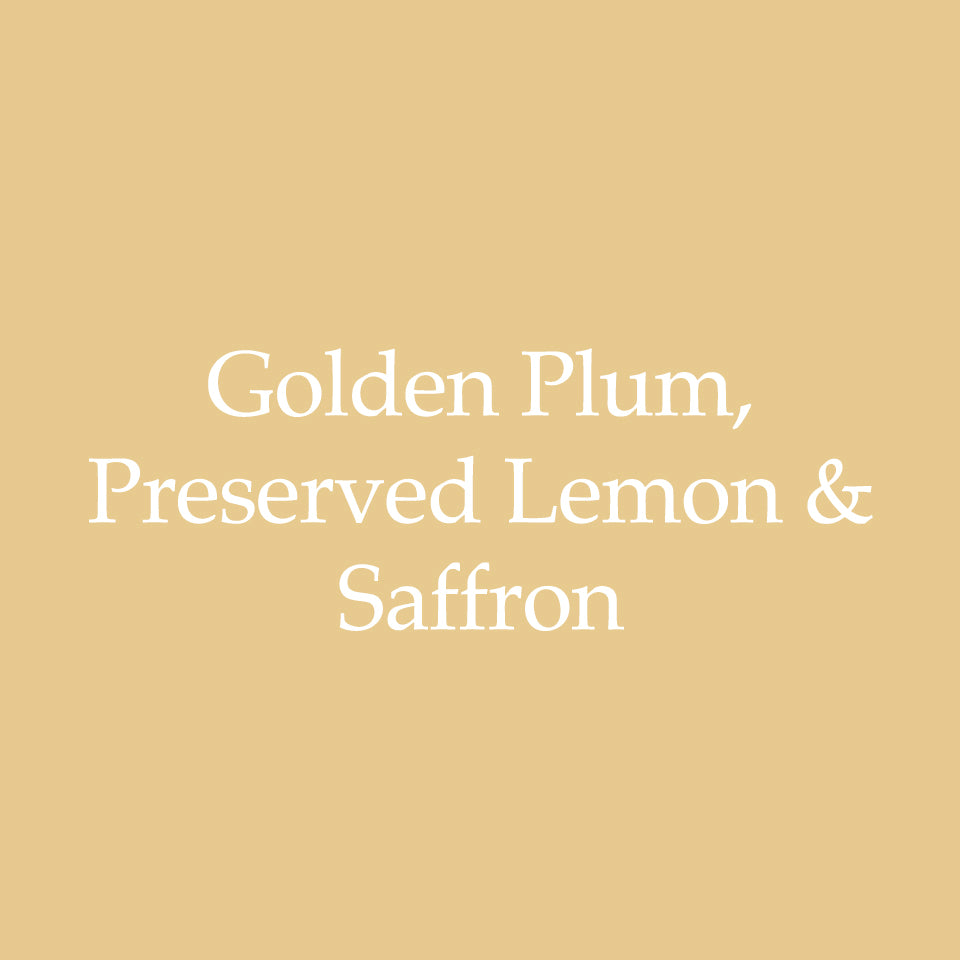 Golden Plum, Preserved Lemon & Saffron