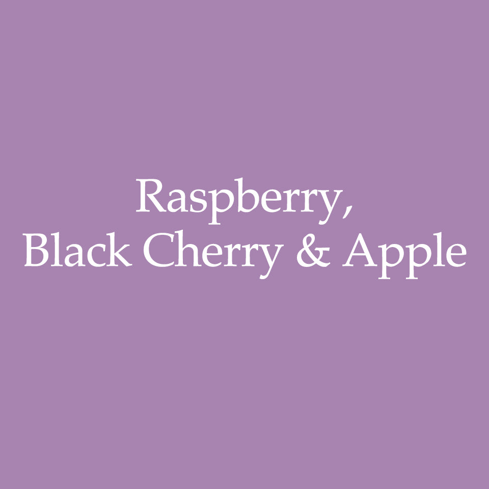 Raspberry, Black Cherry & Apple
