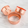 Copper Biscuit Cutter Set