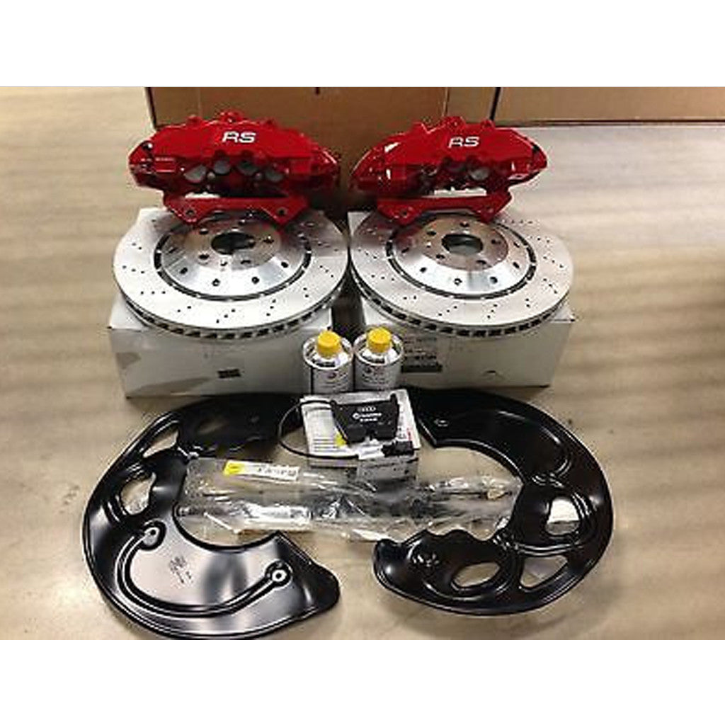 new audi rs5 big brake kit in stock fits s4 s5 rs5 a4 a5 red cal naples speed. Black Bedroom Furniture Sets. Home Design Ideas