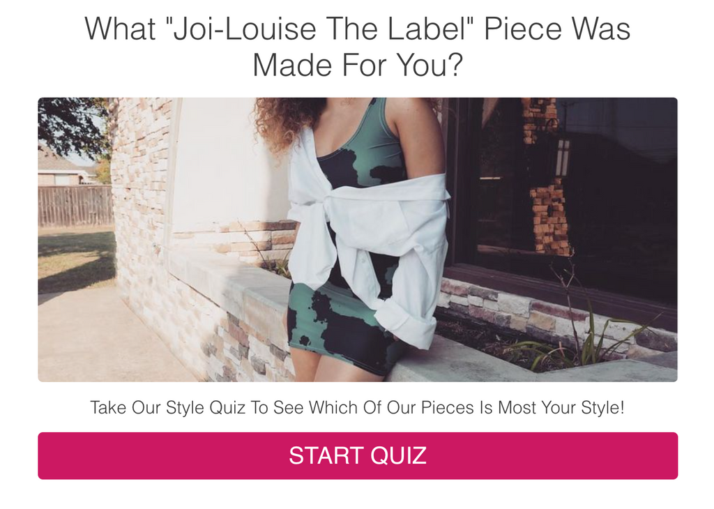 Joi-Louise The Label | Style Quiz