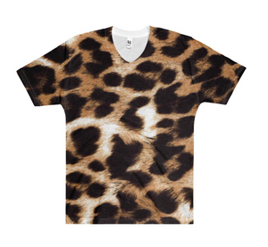 Cheetah V-Neck Top