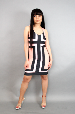 Tribal Fitted Dress
