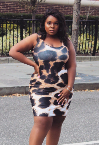Cheetah Pencil Dress