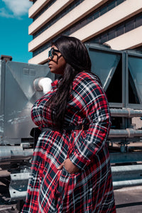 Plaid About You | Maxi Dress