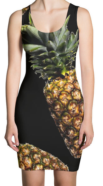 Pineapple Fitted Dress