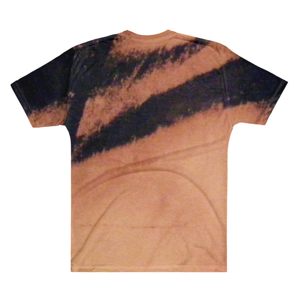Bleached  Suede V-Neck Top