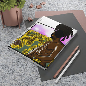 Sunflower rastSpiral Notebook