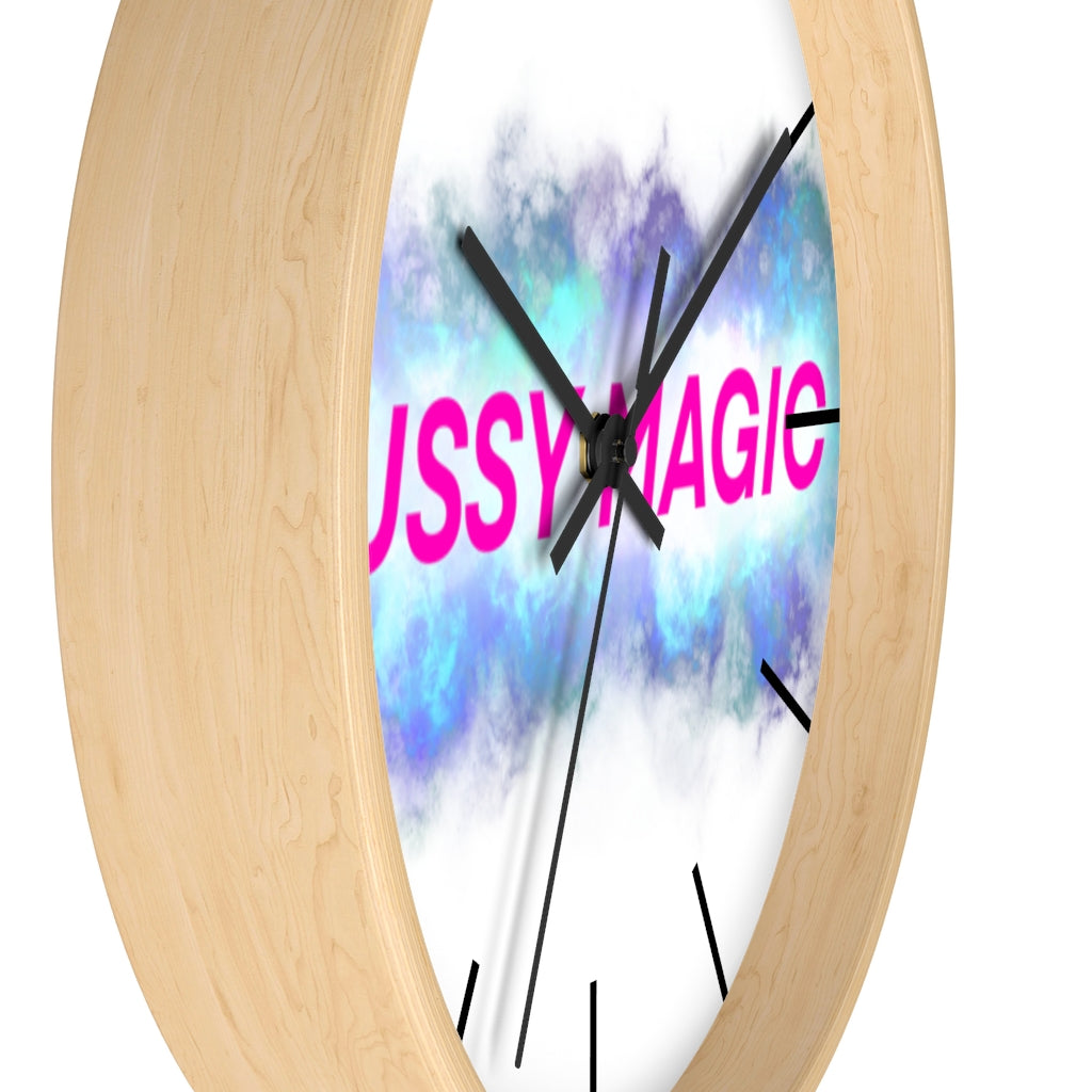 Pussy magic Wall clock