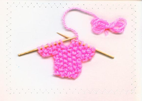 Card - Baby Sweater (Pink)